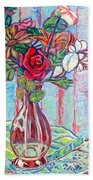 The Red Rose Beach Towel