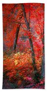 The Red Tree Beach Towel