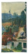 The Red Vine. Matinicus Island. Maine Beach Towel