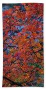 The Reds Of Autumn  Beach Sheet