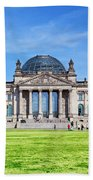The Reichstag Building Berlin Germany Beach Towel