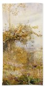 The Return From The Harvest Field Beach Towel by John William North