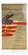 The Right To Bear Arms-4 Beach Towel