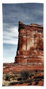 The Road Through Arches Beach Towel by Benjamin Yeager