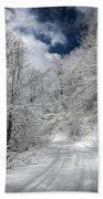 The Road To Winter Wonderland Beach Towel