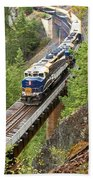 The Rocky Mountaineer Railroad Beach Towel
