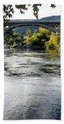 The Rogue River At Gold Hill Bridge Beach Towel