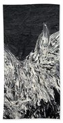 The Rooster - Oil Painting Beach Towel