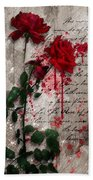 The Rose Of Sharon Beach Towel