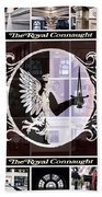 The Royal Connaught Crest Photo Collage Beach Towel