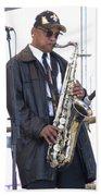 The Saxophone Player Beach Sheet