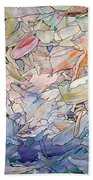 Fragmented Sea Beach Towel