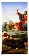 The Sermon On The Mount  Beach Towel