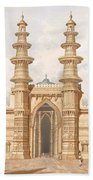 The Shaking Minarets Of Ahmedabad Beach Towel