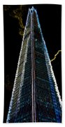 The Shard London Art Beach Towel