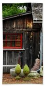 The Shed At Monches Farm Beach Towel by Mary Machare