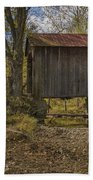 The Shortest Covered Bridge I Have Seen Beach Towel