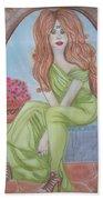 The Sibyl - Grecian Goddess Beach Towel