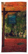 The Sign Of Fall Colors Beach Towel