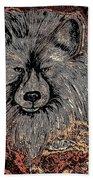 The Silver Wolf 2 Beach Towel