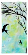 The Simple Life By Madart Beach Towel
