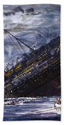 The Sinking Of The Titanic Beach Towel