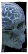 The Skull And Brain Beach Towel