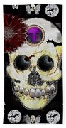 The Skull Is In Love With Cupidos Beach Towel