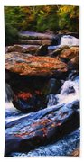 The Skull Waterfall Beach Towel