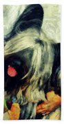 The Skye  Terrier Tilt   Beach Towel