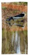 The Small Boat Photoart II Beach Towel