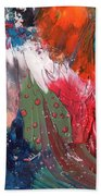 The Smoking Woman Beach Towel