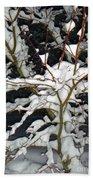 The Snowy Tree II Beach Towel