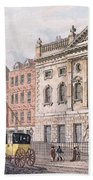 The South Front Of Ironmongers Hall, From R. Ackermanns Repository Of Arts 1811 Colour Litho Beach Towel