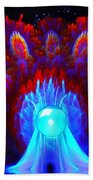 The Spectral Crown Beach Towel