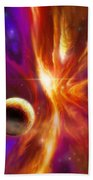 The Spirit Realm Of The Saphire Nebula Beach Towel