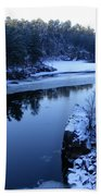 The St. Croix River In December Beach Towel