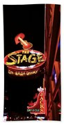 The Stage On Broadway In Nashville Beach Towel by Dan Sproul