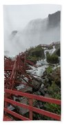 The Stairs To The Cave Of The Winds - Niagara Falls Beach Towel