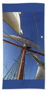 The Star Of India. Mast And Sails Beach Towel