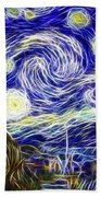The Starry Night Reimagined Beach Towel