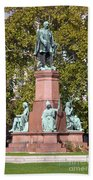 The Statue Of Istvan Szechenyi In Budapest Beach Towel