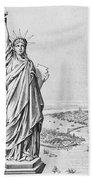 The Statue Of Liberty New York Beach Towel