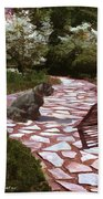 The Stone Path Beach Towel