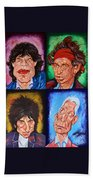 The Rolling Stones Beach Towel