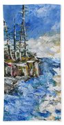 The Storm Beach Towel by Beverly Livingstone