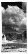 The Superstitions - Black And White  Beach Towel