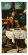 The Supper At Emmaus Beach Towel