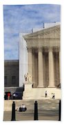 The Supreme Court Facade  Beach Towel