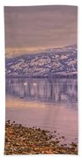 The Swans On Winter Solstice Beach Towel
